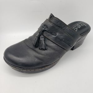 BOC Born Low Heel Leather Mules w Tassels Shoes